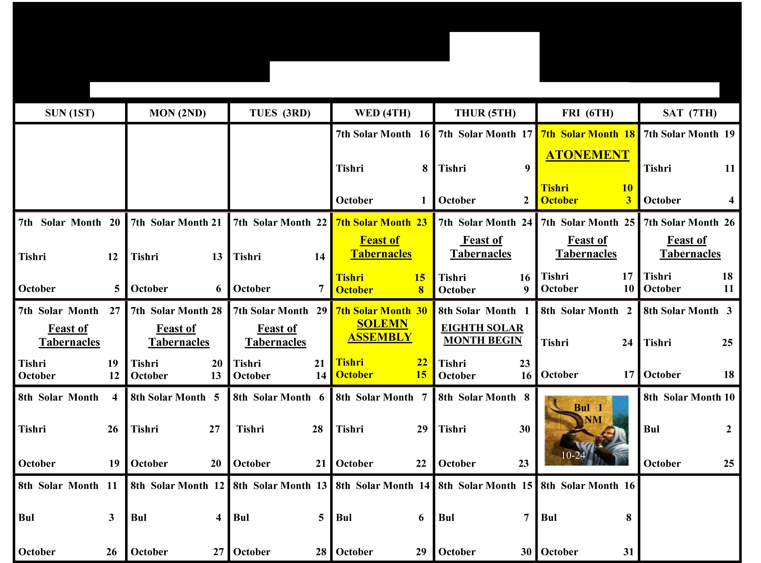 Creation Calendar